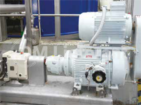 Waste treatment plant - open sky application on lobe pump, 11kW with motor on top