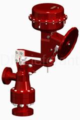 Угловой многоступенчатый клапан 77000