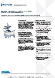 Пилотные предохранительные клапаны низкого давления серии 90 и 9000