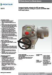 Четвертьоборотные приводы Biffi F01